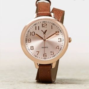 Rose Gold Wrap Watch